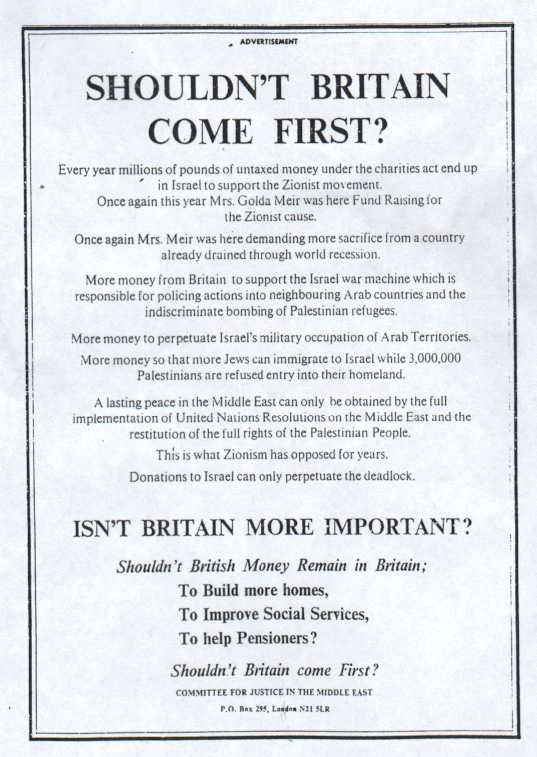 The advertisement that enraged the Board of Deputies of 'British' Jews