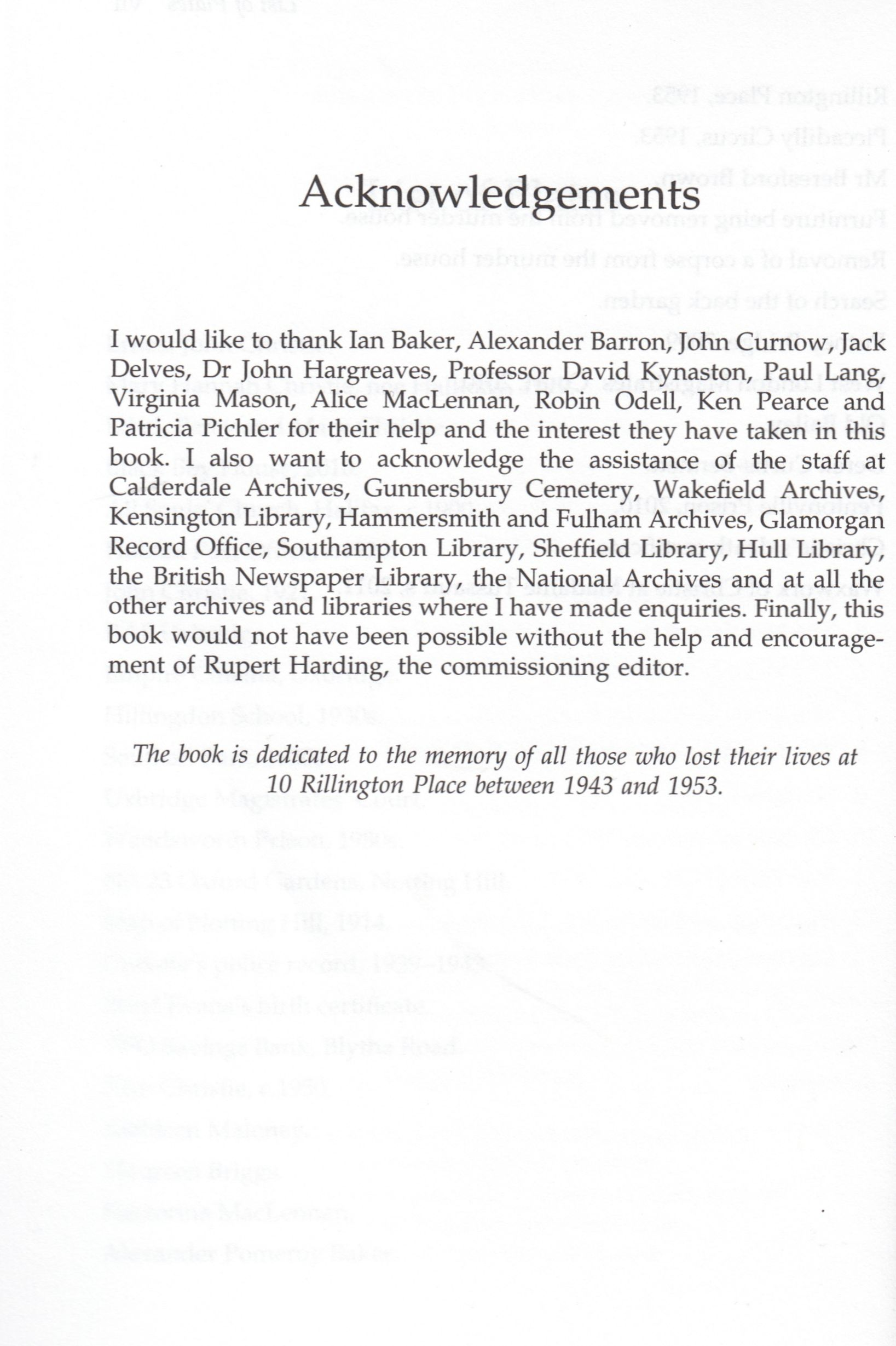 acknowledgement for doctoral thesis