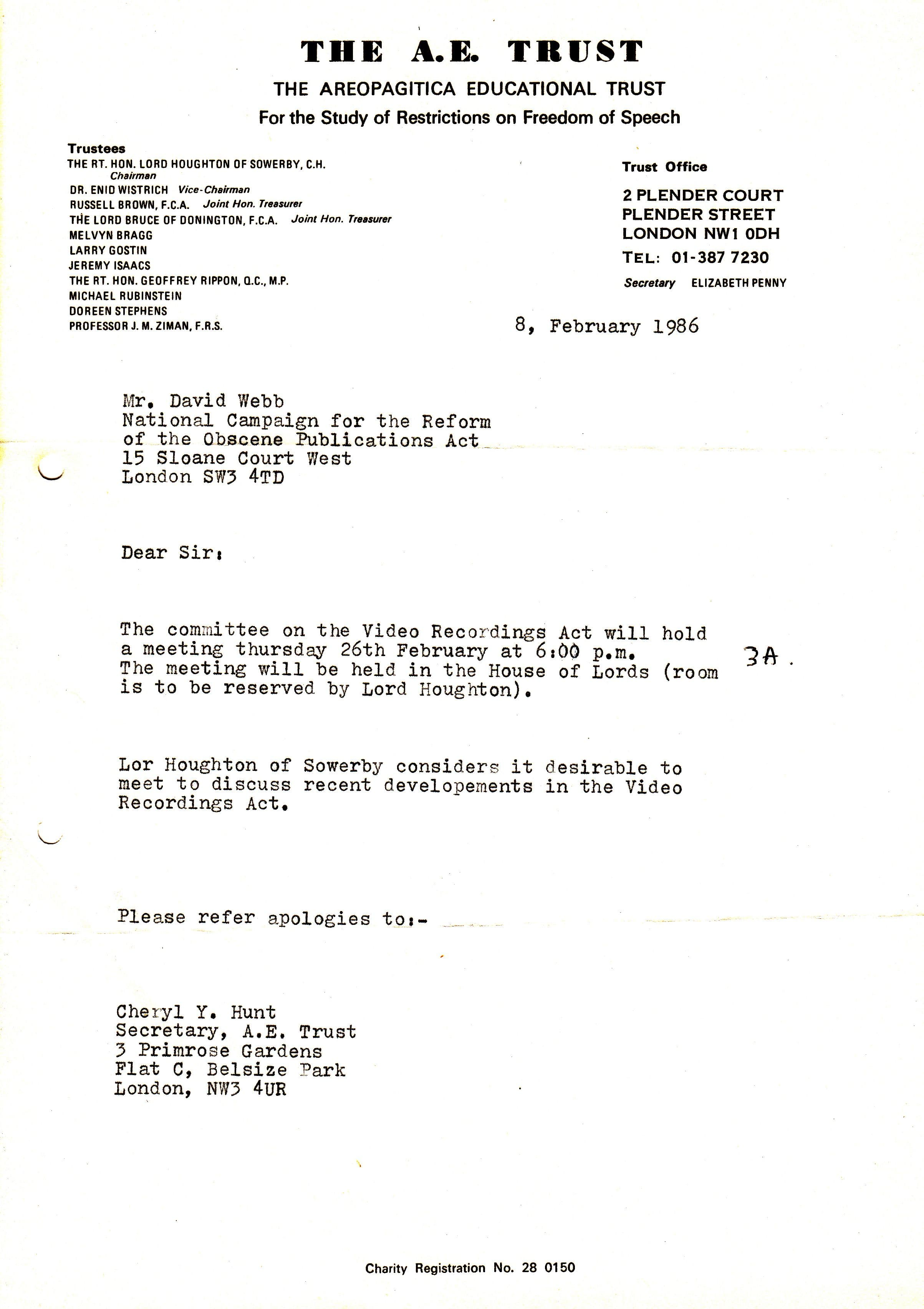 The ncropa archive 1986 28a letter john fraser of soimatar films ltd to ncropa february 11 1986 re the above see document 28 spiritdancerdesigns Images