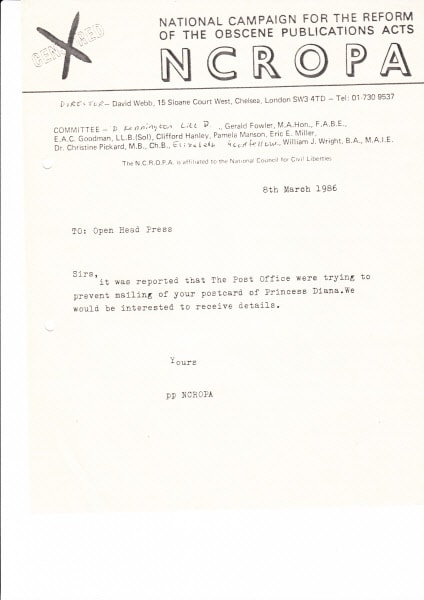 THE NCROPA ARCHIVE 1986 – Inter Office Letter