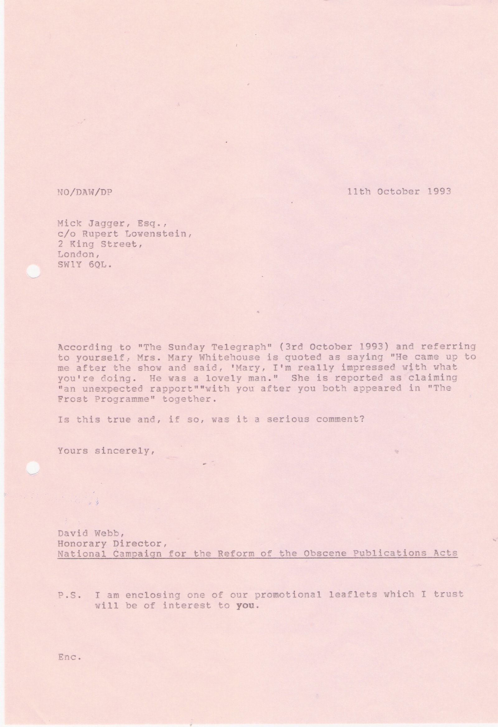 114 Letter Nicholas Scott MP to David