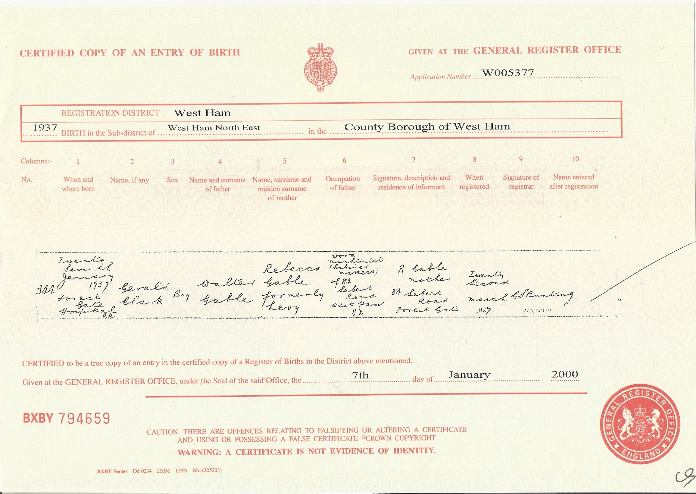 Searchlight archive image gallery gables birth certificate xflitez Gallery