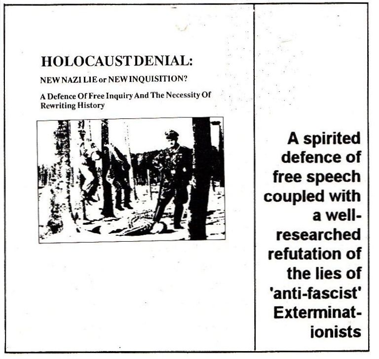 holocaust denial and distortion essay The difference between trivialisation and other forms of holocaust denial and distortion  essay published more than hatred,' she told metroco.